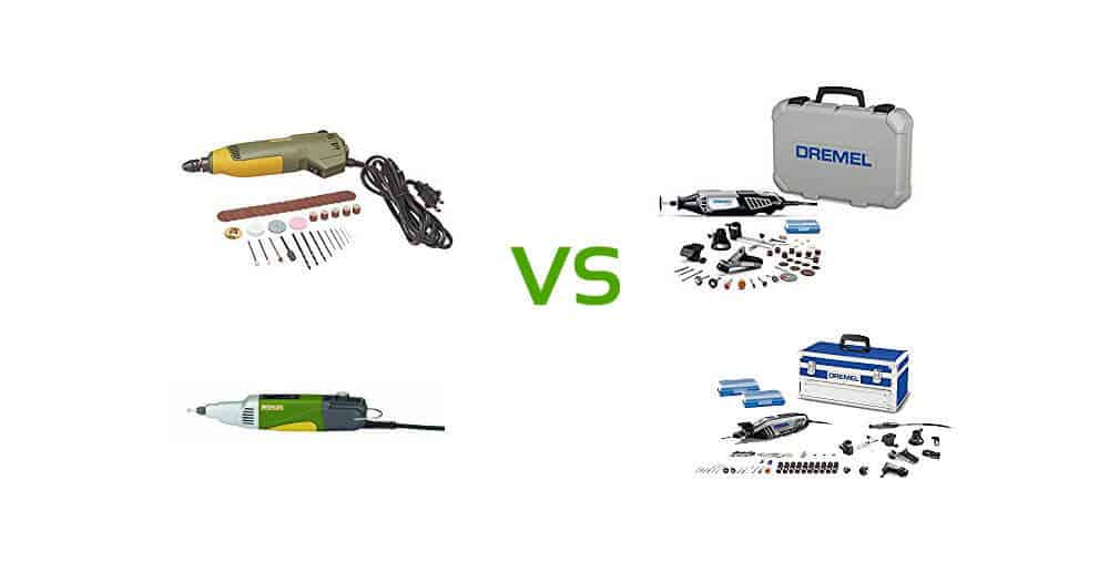 Proxxon vs Dremel Rotary Tool Comparison